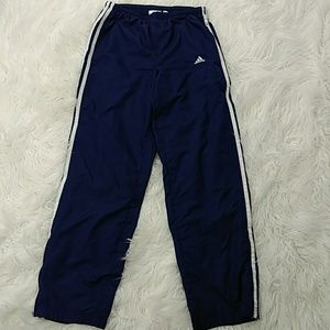Classic Adidas navy track pants small